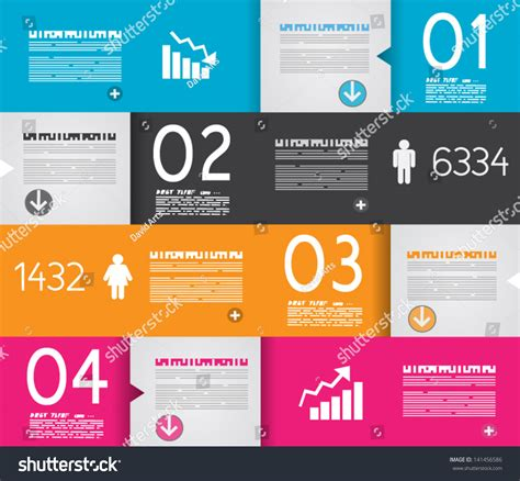 art design ranking infographic design template paper tags ideal stock vector