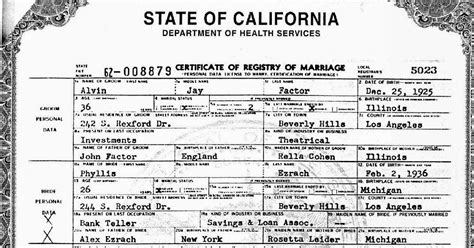 California Marriage License Records California Marriage License Available