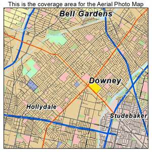 downey california map aerial photography map of downey ca california
