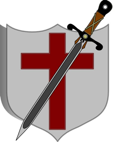 Sword And Shield Clipart sword and shield colored clip at clker vector