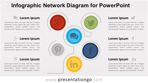 network design powerpoint presentation infographic network diagram for powerpoint