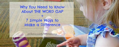 7 Ways To Make A Difference by Why You Need To About The Word Gap 7 Simple Ways To