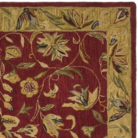 burgundy and gold rug safavieh anatolia an526a burgundy and gold area rug free shipping