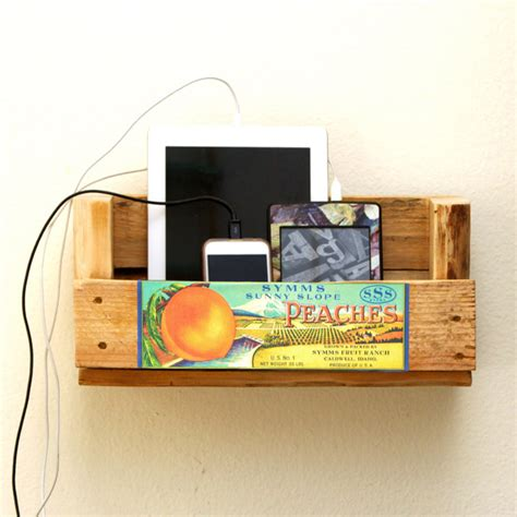 diy wood charging station remodelaholic make a charging station from pallet wood