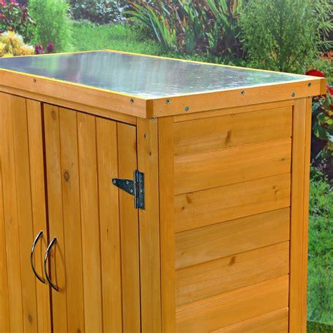 mesa armario almacen de madera  jardin terraza balcon xx ebay