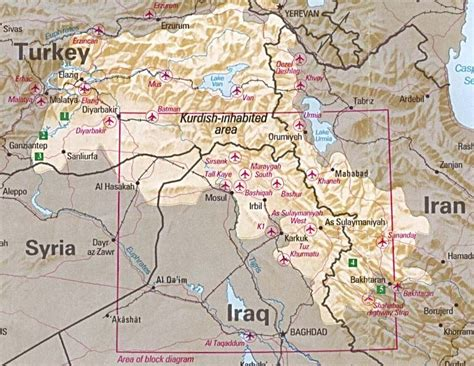 kurdistan map kurdistan maps