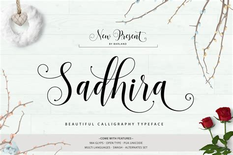 sadhira script font befontscom