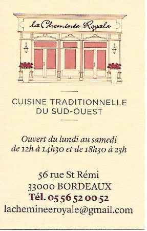 la cheminee royale foto de restaurant cheminee royale burdeos la carte du