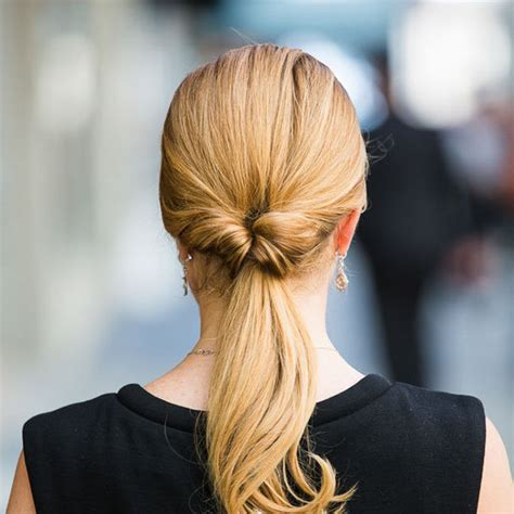 ponytail hairstyles how to do how to do an inside out ponytail popsugar beauty