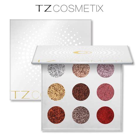 Tz Leopard Make Up Palette aliexpress buy brand tz 9 colors glitters eyeshdow pallete glitter pressed