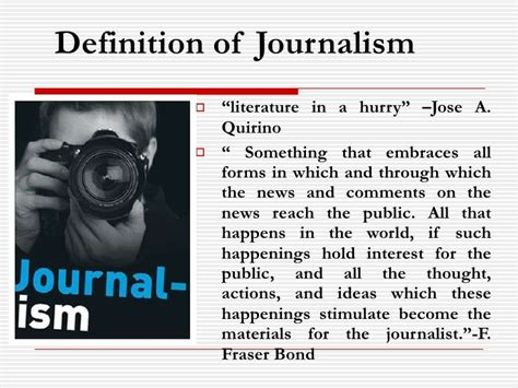 Journalism Definition by Journalism