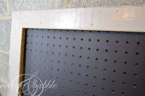 how to paint pegboard build a pegboard frame jenna burger diy pretty framed pegboard part 2 create and babble