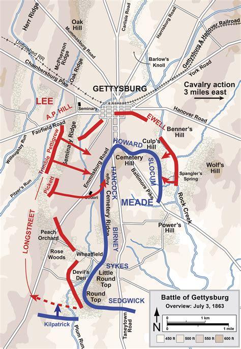 gettysburg map ars bene moriendi 150th gettysburg pickett s charge