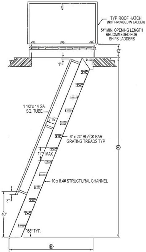 Handrail Requirements Hatch Access Flush Top Ships Ladder Structural Steel