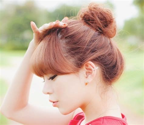 korean hairstyles buns 105 best images about asian hairstyle on pinterest wavy