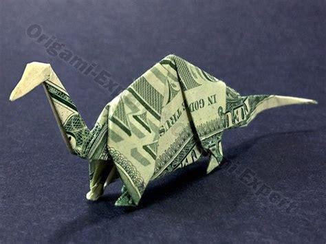 One Dollar Bill Origami - dollar bill origami apatosaurus designed by montroll