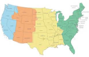 us map divided by time zones us time zone map