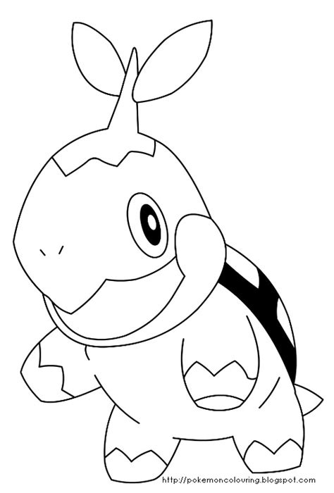 Pokemon Coloring Pages Turtwig Coloring Pages