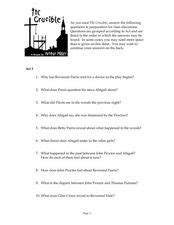 themes in the crucible worksheet crucible act iii lesson plans worksheets reviewed by