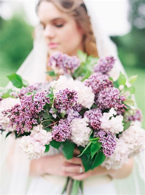 Wedding Bouquet Lilac lilac wedding bouquets photos brides