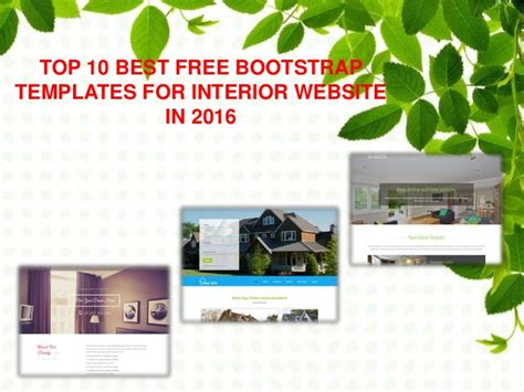 Top 10 Best Free Bootstrap Templates For Interior Website In 2016 Free Bootstrap Templates 2016