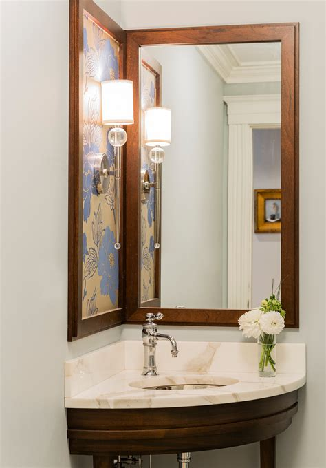 pretty torchiere  powder room contemporary  wood