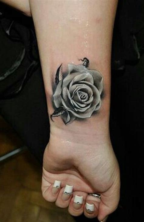 tattoos of white roses 41 graceful flowers wrist tattoos