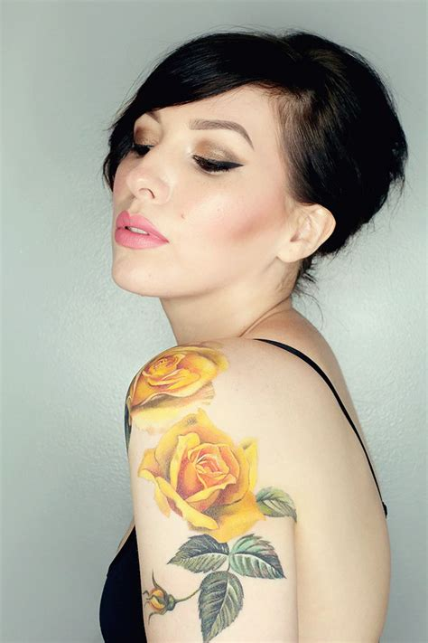 yellow tattoos best 25 yellow ideas only on