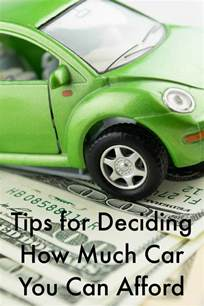 can you afford a new car deciding how much car you can afford