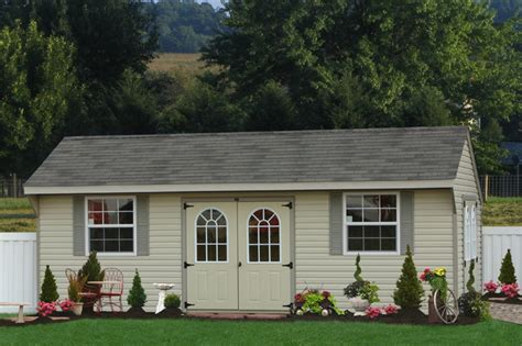 large vinyl shed  delaware traditional garden shed