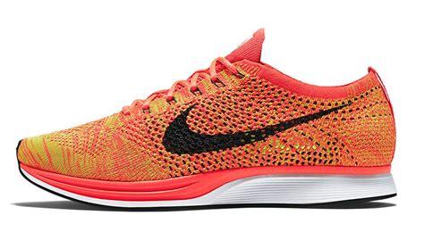 Sepatu Nike Flyknit Racer Bright Crimson Volt Orange 1 nike flyknit racer orange slice sneaker bar detroit