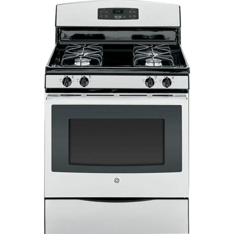 5 0 cu ft gas range with self cleaning oven in stainless