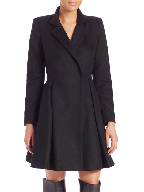 A Line Coat lyst therese midi wool blend a
