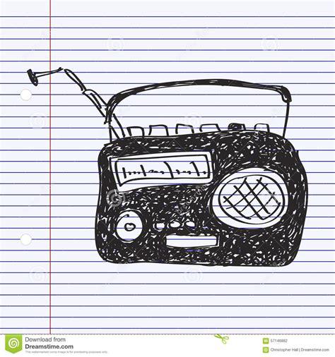 doodle radio prosty doodle radio ilustracja wektor ilustracja złożonej