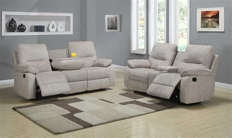 Homelegance Marianna Reclining Sofa Set Beige Chenille Recliner Sofa Sets