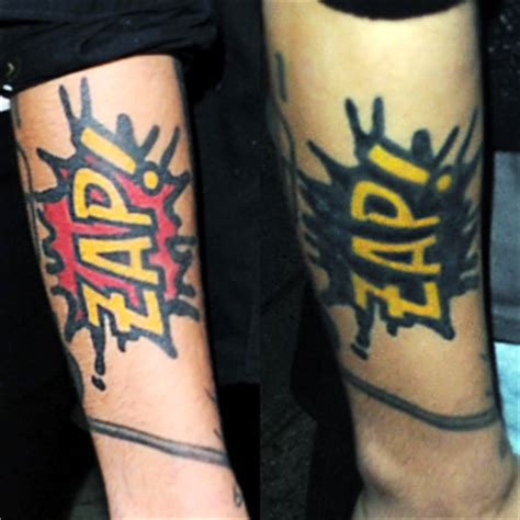 zap tattoo image zayn zap png one direction wiki