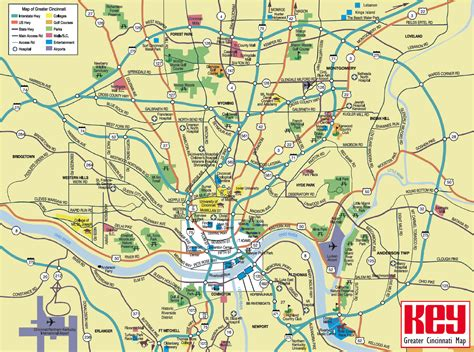 usa map cincinnati cincinnati map tourist attractions holidaymapq