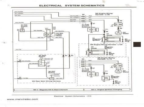 deere l110 electrical diagram wiring diagram