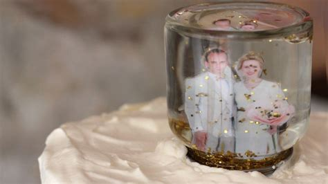 Wedding Cake Toppers Etsy by Snow Globe Wedding Cake Topper Etsy Weddings