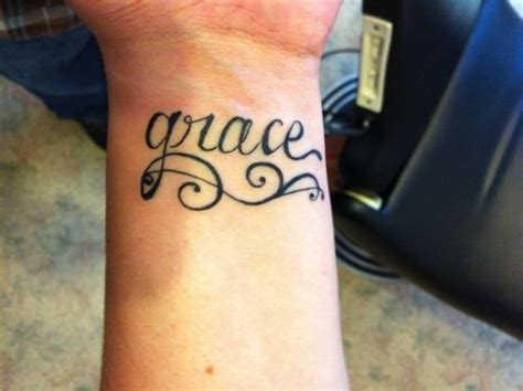 grace tattoo designs wrist grace images ideas