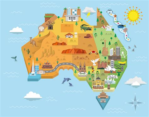 australia in map australia graphic map on behance