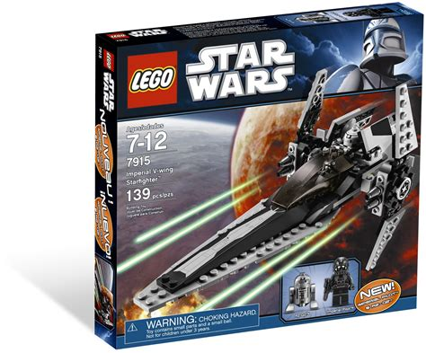 Lego Imperial Vwing Pilot Wars lego 7915 imperial v wing starfighter