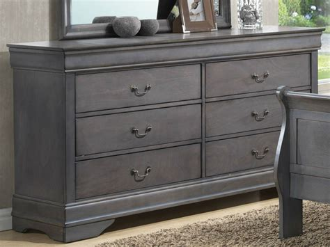 Grey Bedroom Dressers by Lifestyle 4934 Louis Philippe Gray 5 Pc King Bedroom Set