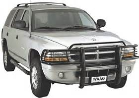 waag grille guard dodge durango 2003 03 black powder