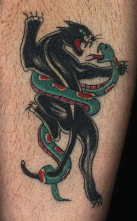 black panther tattoo meaning panther and snake design busbones