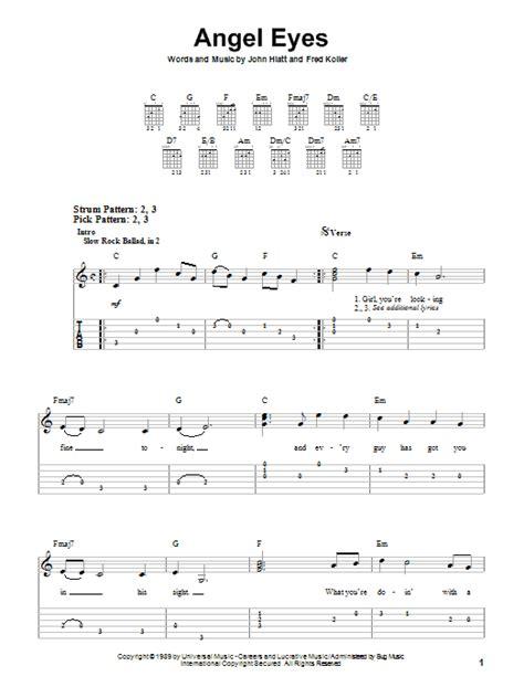 theme song in angel eyes angel eyes sheet music by jeff healey easy guitar tab