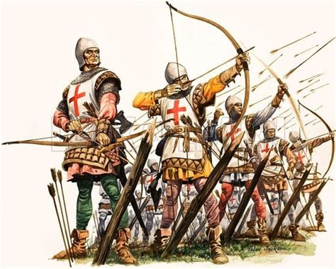 longbowman vs crossbowman hundred in medieval times why didn t the archers just rain down arrows on the enemy quora