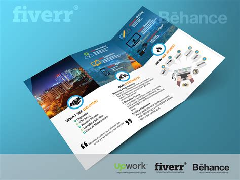 awesome brochure templates advertising brochure template template reference blank