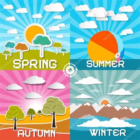 imagenes de otoño primavera verano four seasons vector ilustraci 243 n primavera verano