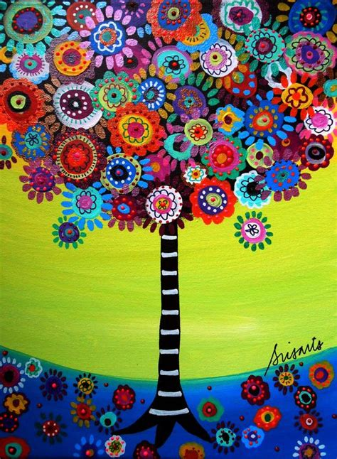 mexican bar bat mitzvah folk art tree of life flowers by